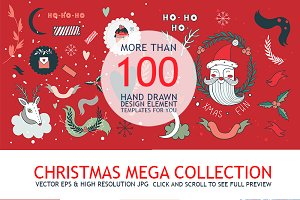 Christmas Mega Collection Hand Drawn