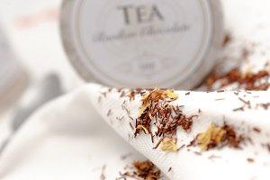 Closeup of rooibos tea