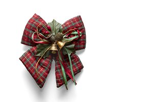 Christmas gift ribbon with bells
