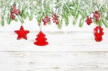 Christmas background. Spruce branch