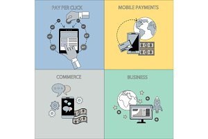 Internet Business and Payment Concep