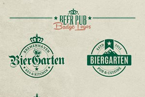 Beer Pub Badge Logos
