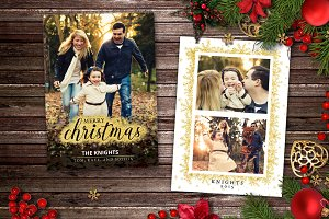 Christmas Card Template - Shimmer