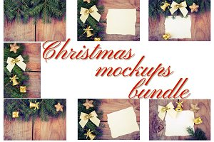 Christmas mockups bundle
