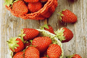 Ripe Forest Strawberries
