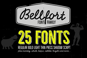 Bellfort family - 25 fonts