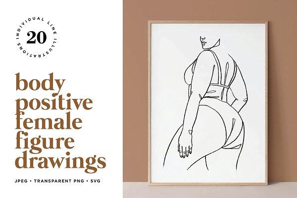 Line Art Woman Photos Graphics Fonts Themes Templates Creative Market