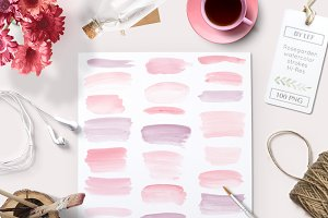 Watercolor Paint Brush Strokes PNG