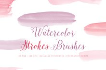 Watercolor Photoshop Brushes Strokes