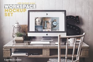 Workspace Mockup Set 3