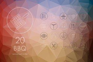 20 BBQ icons