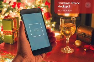 Christmas iPhone Mockup 2