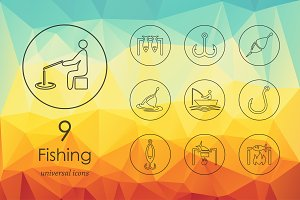 9 fishing icons