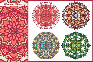 Abstract Flower and Mandala Set 1