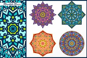 Abstract Flower and Mandala Set 2