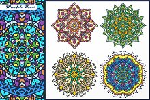 Abstract Flower and Mandala Set 3