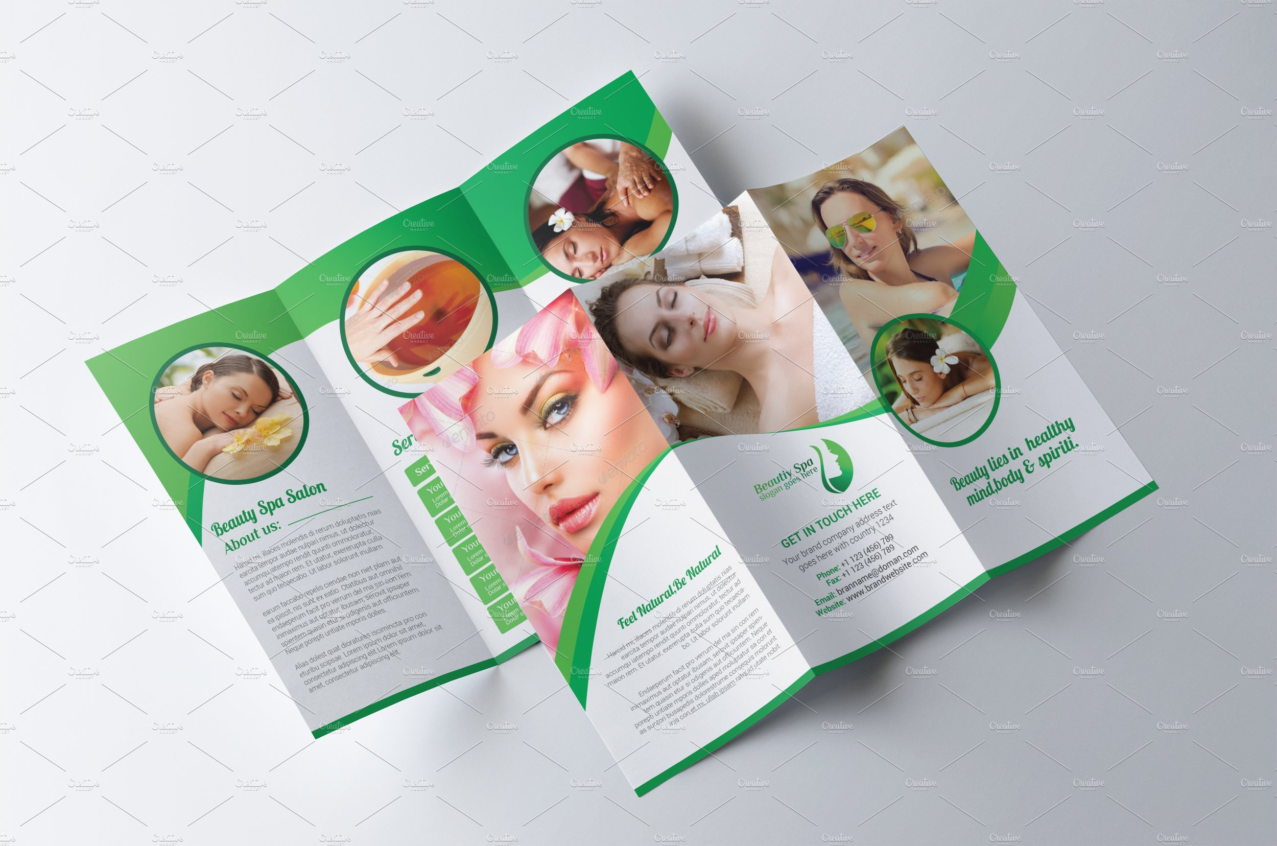 spa beauty salon brochure brochure templates creative market