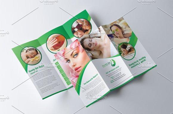 Spa Beauty Salon Brochure Brochure Templates on Creative Market – Salon Brochure