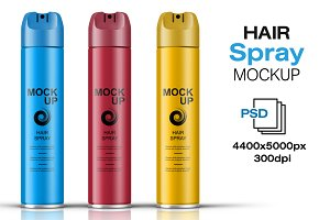 Hair Spray Bottle Mockup Vol. 6