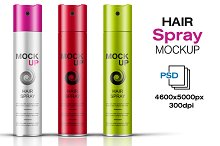Hair Spray Bottle Mockup Vol. 7