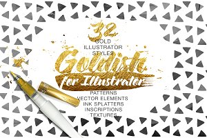 Goldish Kit. For Illustrator+Extras