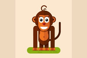 Vector Monkey Illustration