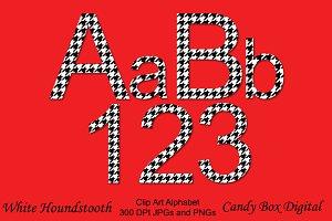 Houndstooth Alphabet Clip Art