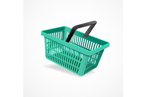 Shopping Basket Set. Vector