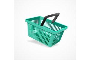 Shopping Basket Set. Vector
