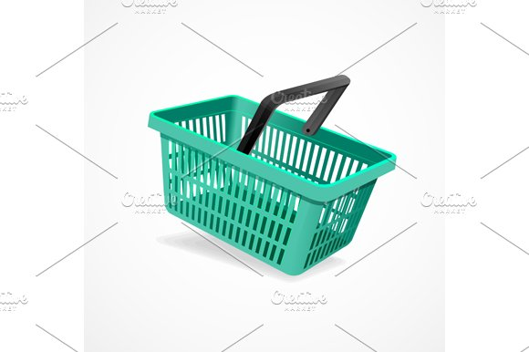 Shopping Basket Set. Vector - Objects
