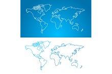 World Map Concept. Contour.