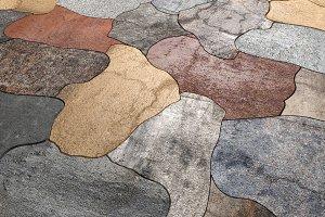 Textured stones floor