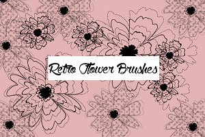 Retro Flower Brushes