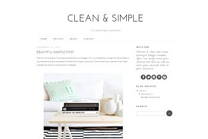 Blogger Template - Clean and Simple