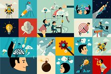 Business and Marketing Flat Concepts