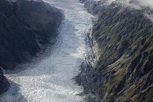 Icy glacier