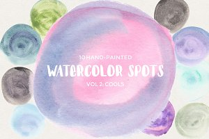 Watercolor Spots Vol 2: Cools