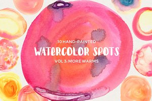 Watercolor Spots Vol 3: More Warms