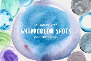 Watercolor Spots Vol 4: More Cools