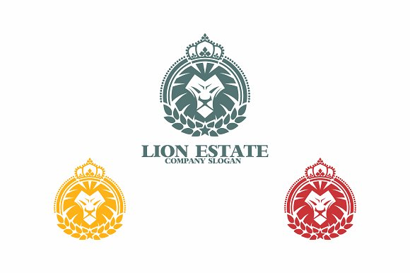 Lion Estate in Logo Templates - product preview 2