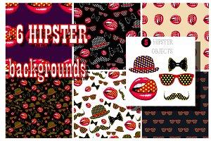 Vector hipster set_1.