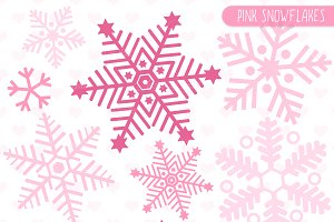 Pink Snowflakes Clip art and Vectors