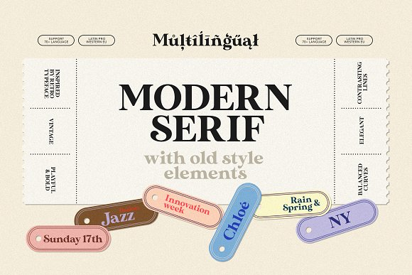 Modern Font Bundle | 95% Off in Display Fonts - product preview 2