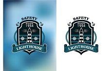 Lighthouse nautical banner