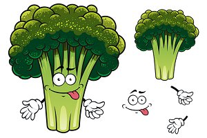 Cartoon broccoli character