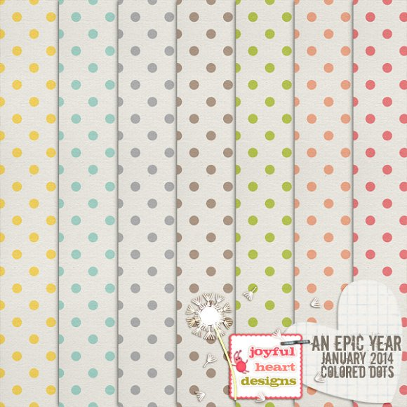 An Epic Year-Jan. {colored dots} - Patterns