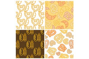 seamless assorted bakery background