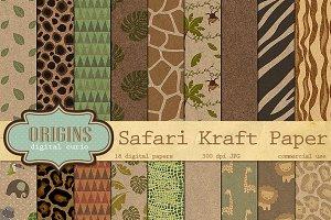 Safari Kraft Digital Paper