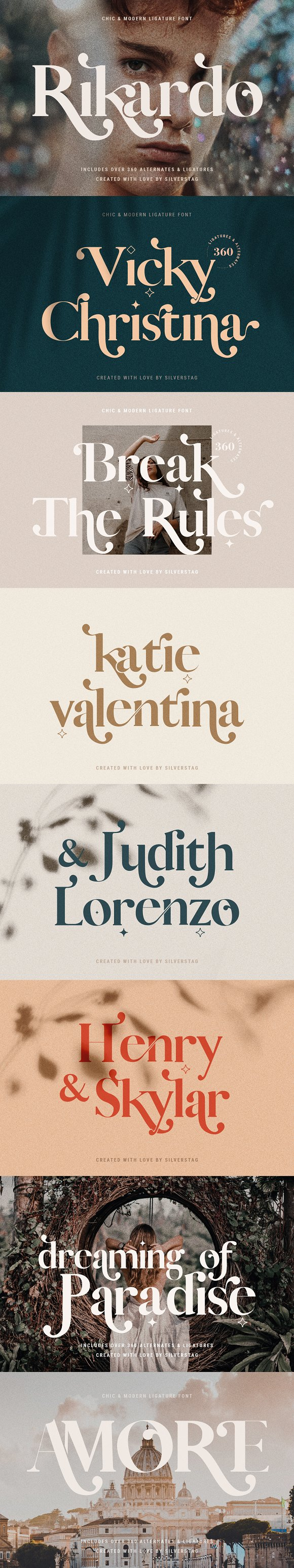 Vicky Christina Ligature Serif Font in Serif Fonts - product preview 3