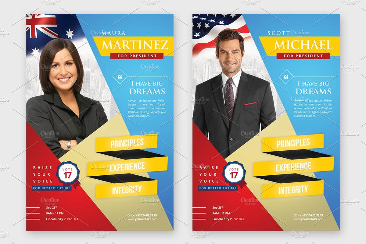 election campaign political flyer flyer templates on creative election campaign political flyer flyer templates on creative market